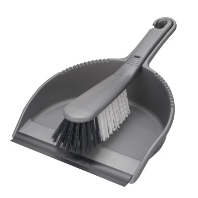 Addis 9225 dustpan & brush stiff metallic
