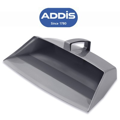 Addis 9763 closed dustpan metallic