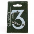 Centurion chrome door numeral 3