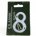 Centurion chrome door numeral 8