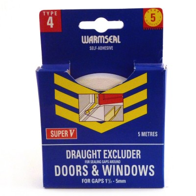 Warmseal super v draught excluder 5m