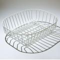 Delfinware 2947 oval sink basket white