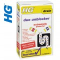 HG duo drain unblocker 2 x 500ml