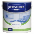 Johnstone's vinyl silk emulsion brilliant white 2.5 litre