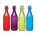 Kitchencraft Coloured Glass Bottle 1L