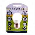 Luceco 3.5W B22 round LED light bulb