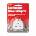 Red/grey Continental travel adaptor