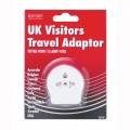 Red/grey UK visitors travel adaptor