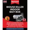 Rentokil mouse killer indoor bait box x2
