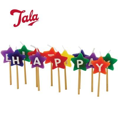 Tala 'Happy Birthday' novelty star candles