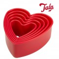 Tala heart shaped cutters set of 5